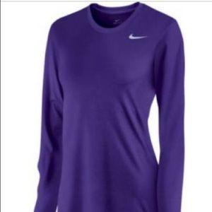 Purple Nike Long Sleeve Tee